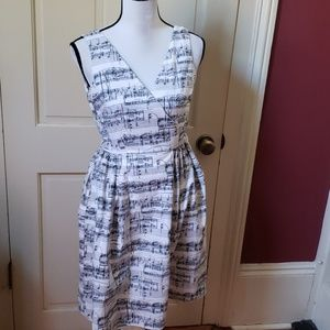 Modcloth ivory musical notes dress by Bea & Dot S